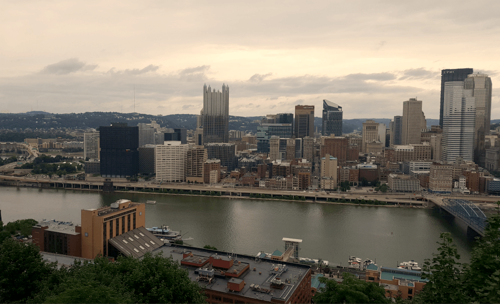 Pittsburgh skyline from the Duquesne Incline