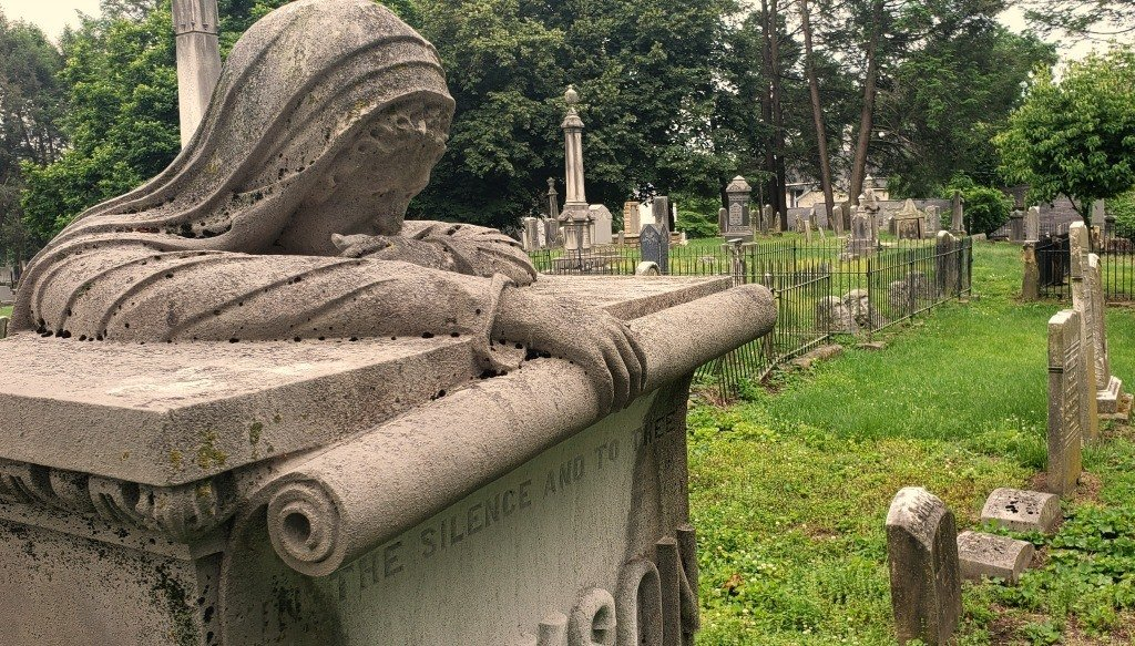 The Grieving Mother Tombstone is something to see in Parkersburg