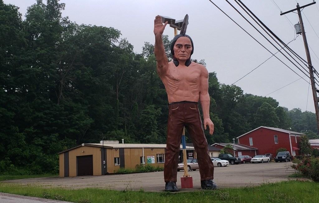 The Muffler Man in Parkersburg
