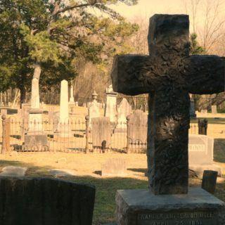 cross gravestone in Fayetteville