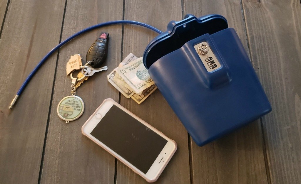 Keep all your products safe when camping with SAFEGO portable safe.