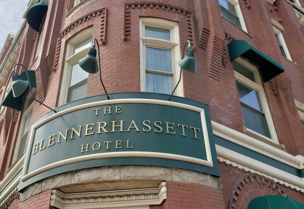 The Brick front of the Blennerhassett Hotel