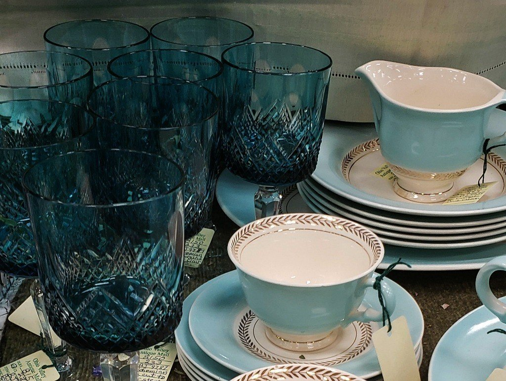 cups and vintage glassware