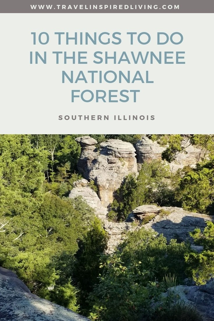 This list of 10 things to do in the Shawnee National Forest Area in Southern Illinois may surprise you. Beautiful scenery, outdoor activities, hiking and even bigfoot. #roadtrip