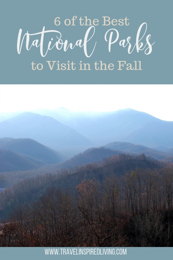 6 of the Best National Parks to Visit in the Fall- perfect for fall road trips and outdoor lovers. #nationalparks