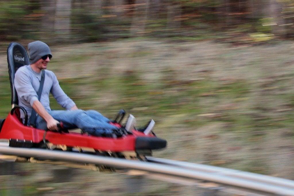 Ride a mountain coaster in Gatlinburg