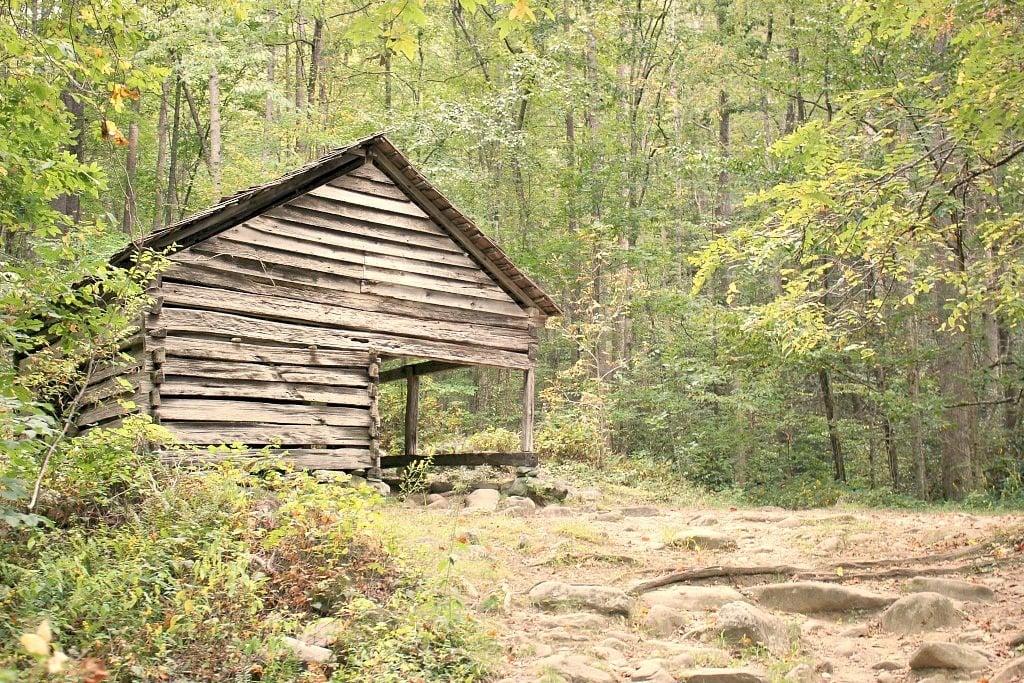 Cabin along Roaring Fork Trail