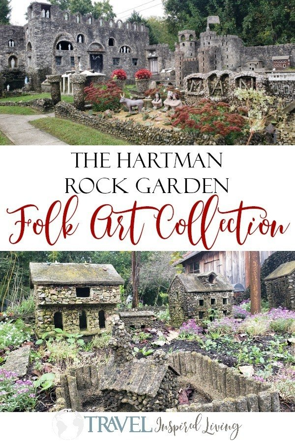 The Hartman Rock Garden folk art collection is located in Springfield, Ohio, a short drive from Columbus or Cincinnati. This gem is FREE and a must see. #FindYourUnwind #RoadTrip #ThingstodoinOhio