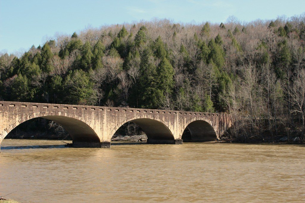 bridge near the cumberland falls
