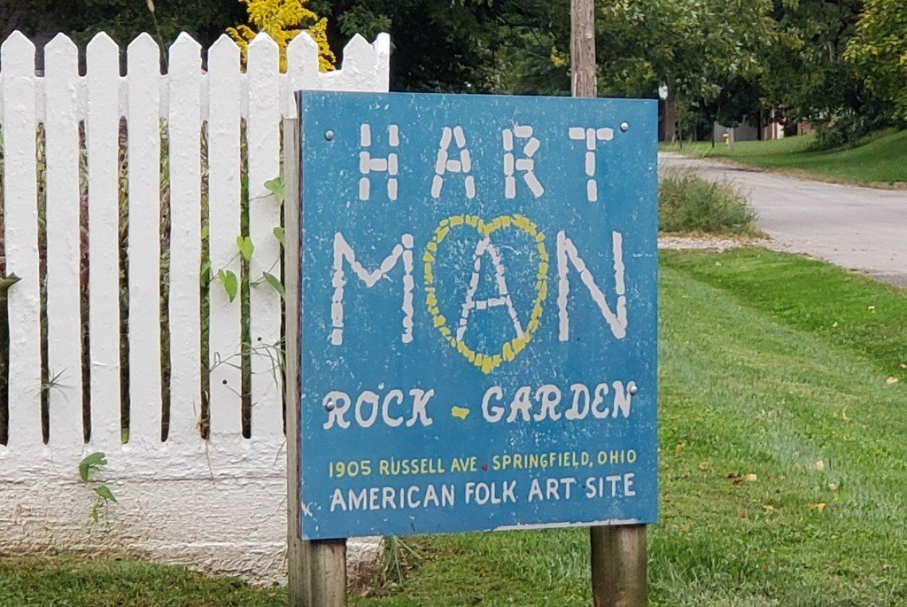 sign for Hartman Rock Garden