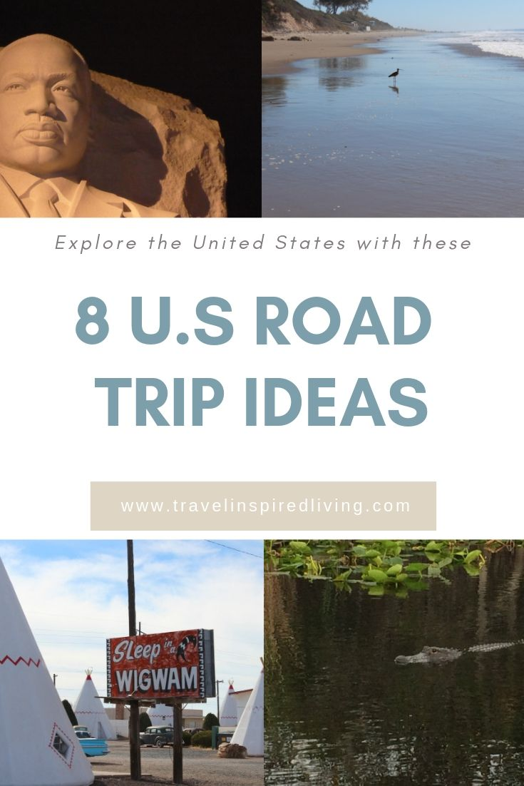 Explore the United States with these 8 U.S. road trip ideas that cover every corner of the country. #roadtrip #travelinspiredliving #roadtripideas
