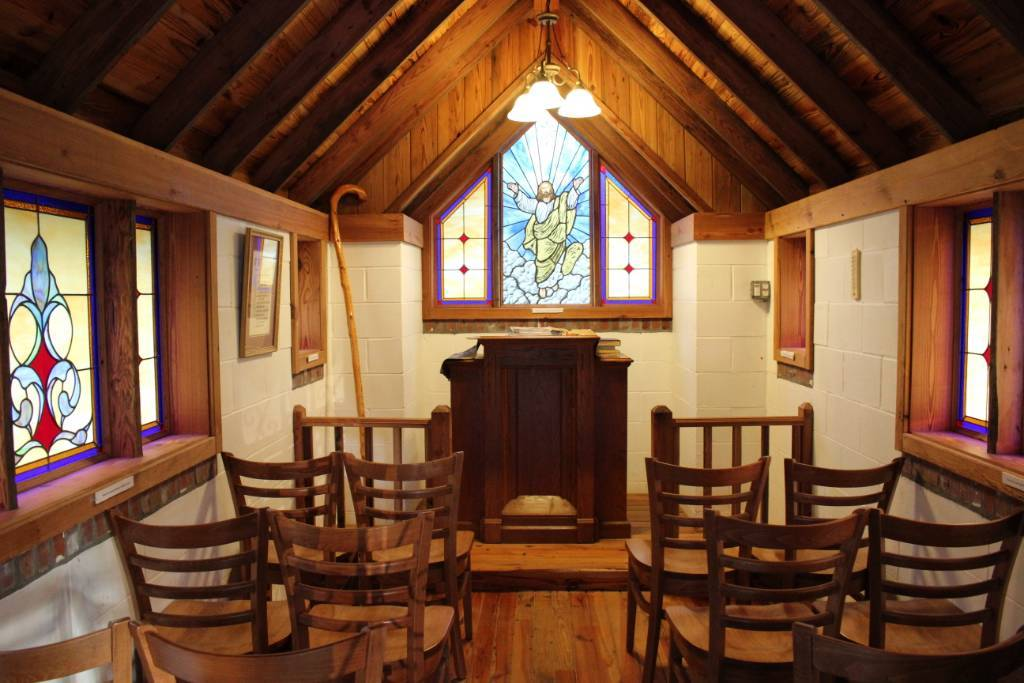 Interior of America's Smallest Church