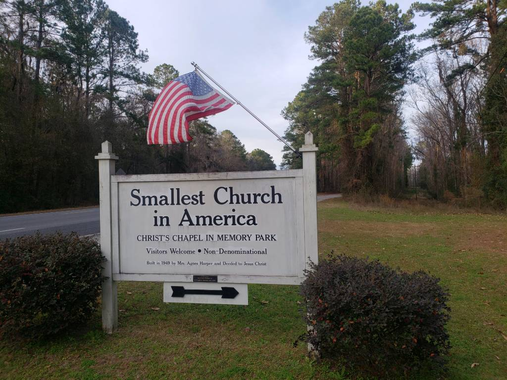 Sign to America's Smallest Church