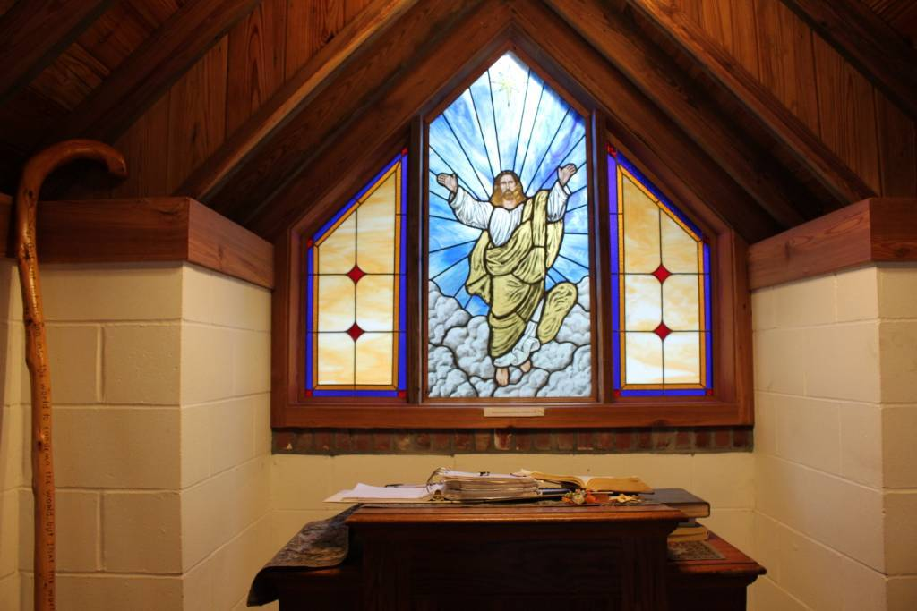Stained Glass Window inside America's Smallest Church