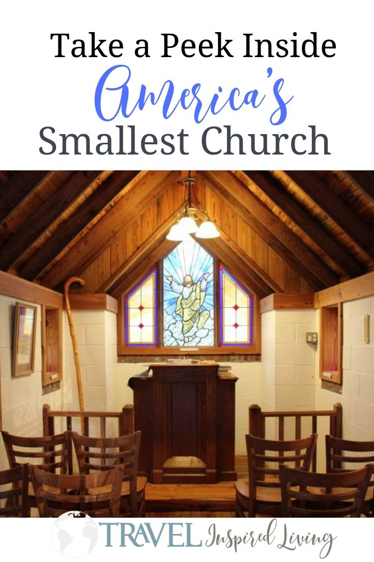 Take a peek inside America's Smallest Church minutes from I-95 in Georgia located along Highway 17. #roadsideattraction #roadtrip