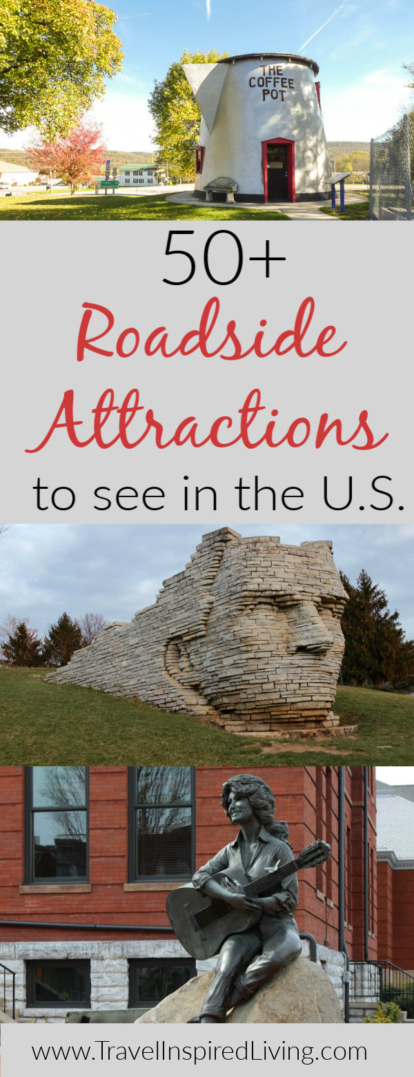 This list of 50+ roadside attractions throughout the United States is a great place to glean some road trip inspiration.