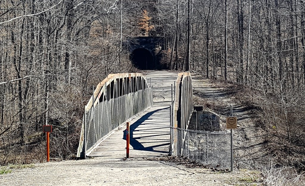The bridge over Raccoon Creek at Moonville Tunnel