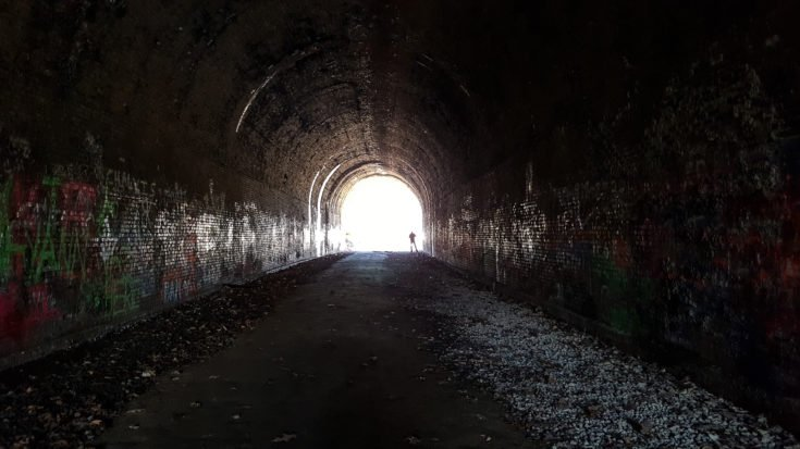 The Moonville Tunnel is a Remote and Scary Tunnel Located in Southeastern Ohio