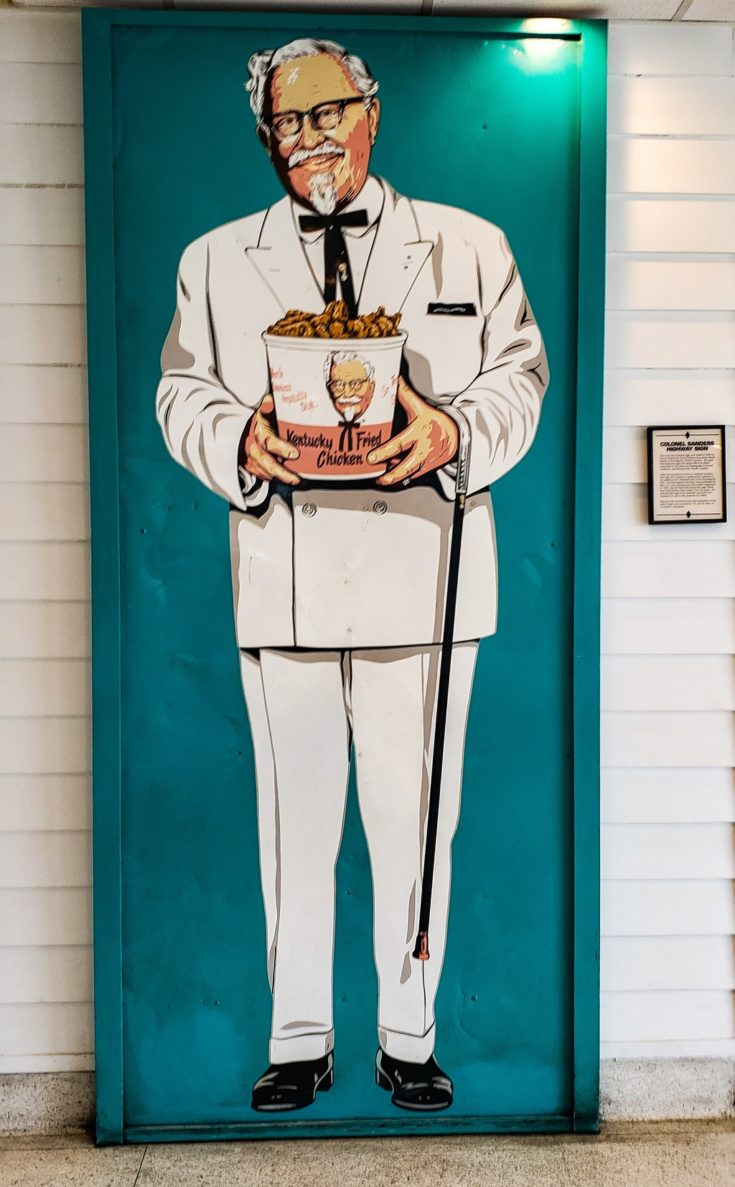 This Colonel Sanders Highway Sign was used to draw business into the restaurants.