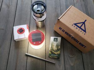 Items included in the Earth Day nomadik subscription box.