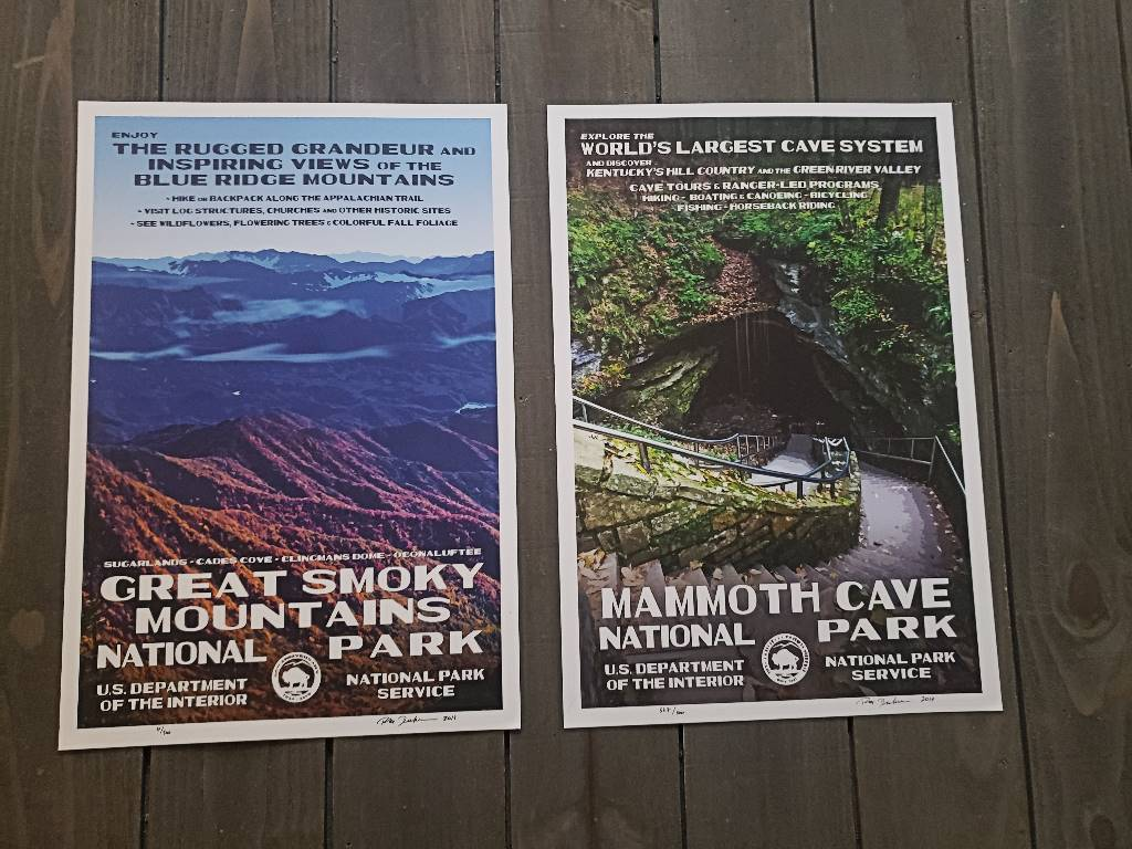 Two of the National Parks Posters available by Rob Decker