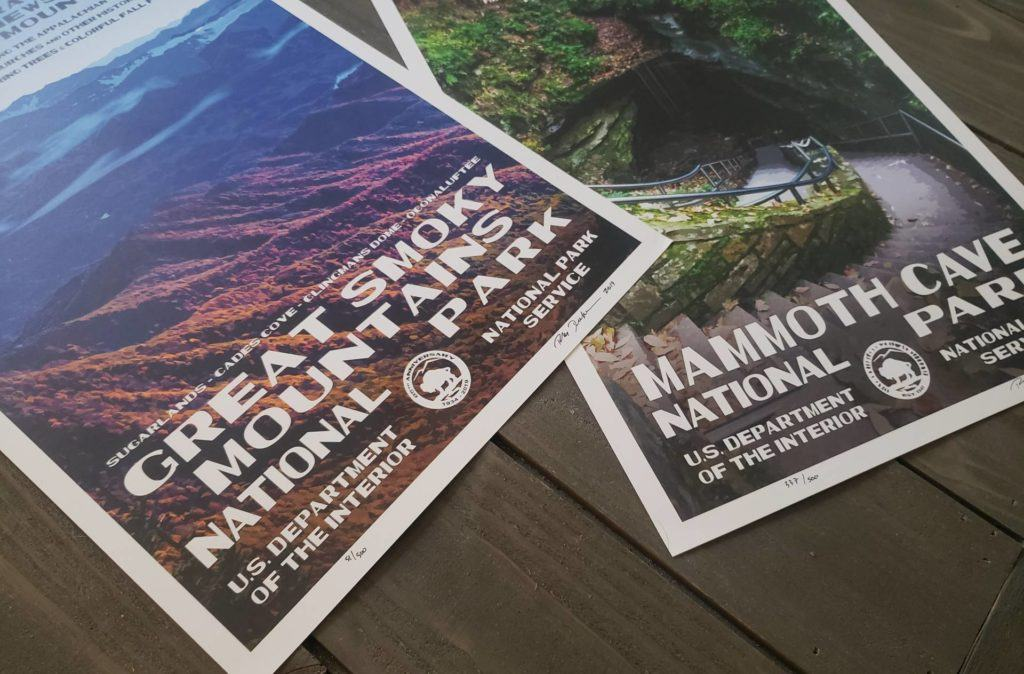 The Great Smoky Mountains and Mammoth Cave National Park Posters