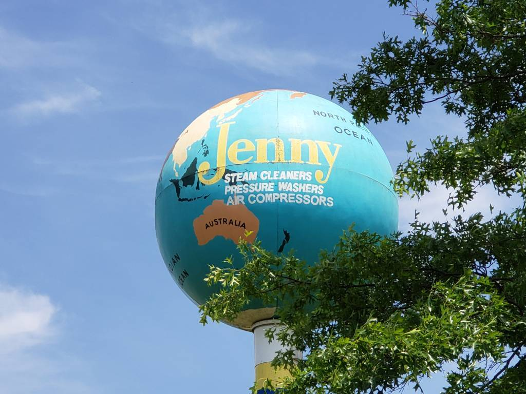 The Jenny Globe can be seen from the PA Turnpike.