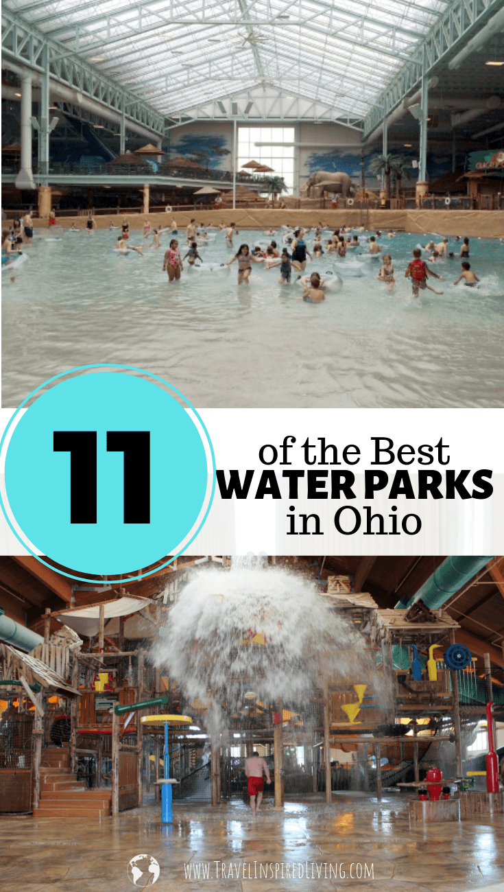 a list of the best water parks in Ohio- this list features indoor and outdoor water parks.
