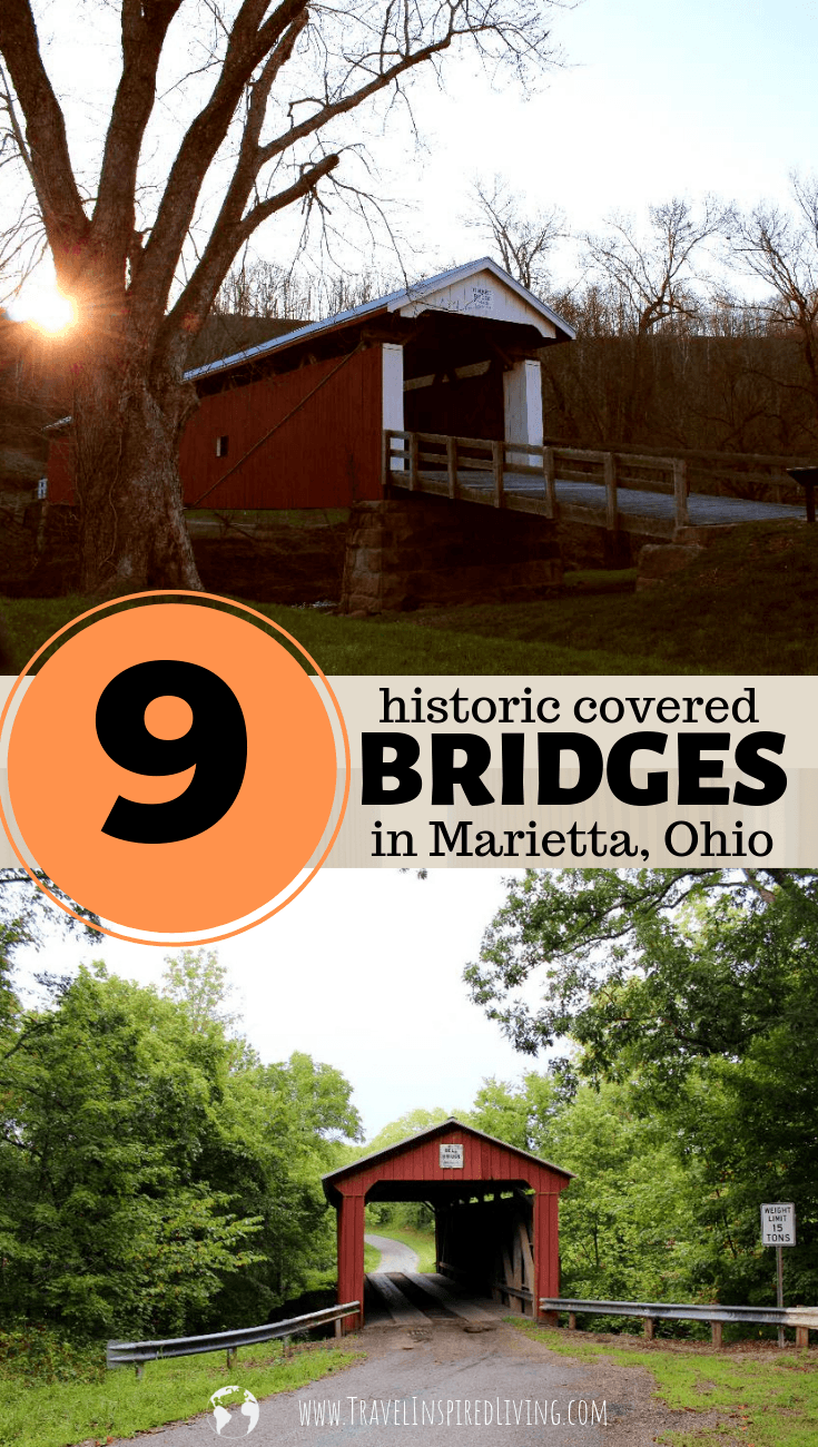 9 historic covered bridges in Marietta, Ohio that make a fun day trip to seek out and explore.