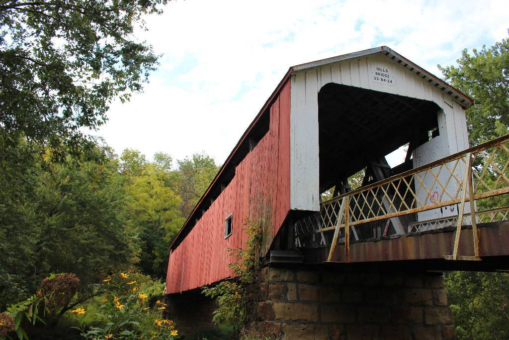 The Hills Covered Bridge is located near Marietta