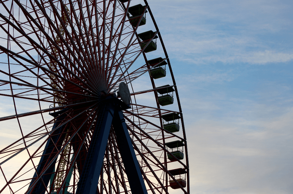 Cedar Point is the roller capital of the world but I love the view of the ferris wheel at dawn.