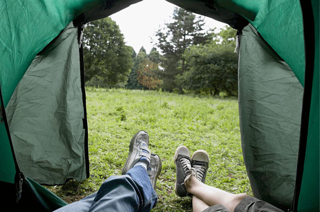 You can tent camp just about anywhere.