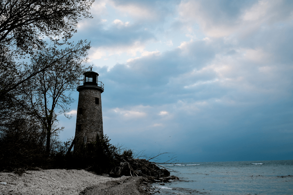 The lighthouse at Pelee Island.
