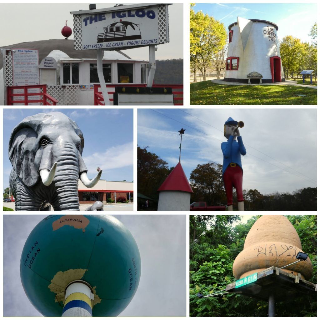 A variety of fun and quirky stops you'll find along I-70 in Pennsylvania.