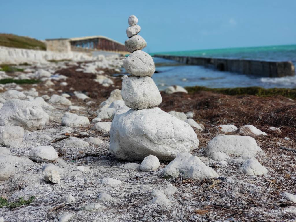 A cairn in the Florida Keys
