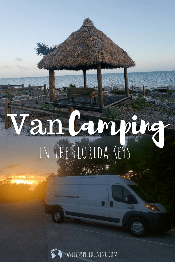 A cute hut by the water and cargo van at sunset for van camping.
