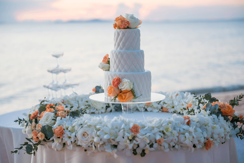Wedding Cake by the Water