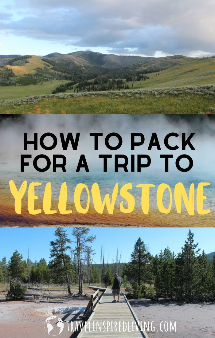 a collage of photos taken in yellowstone national park