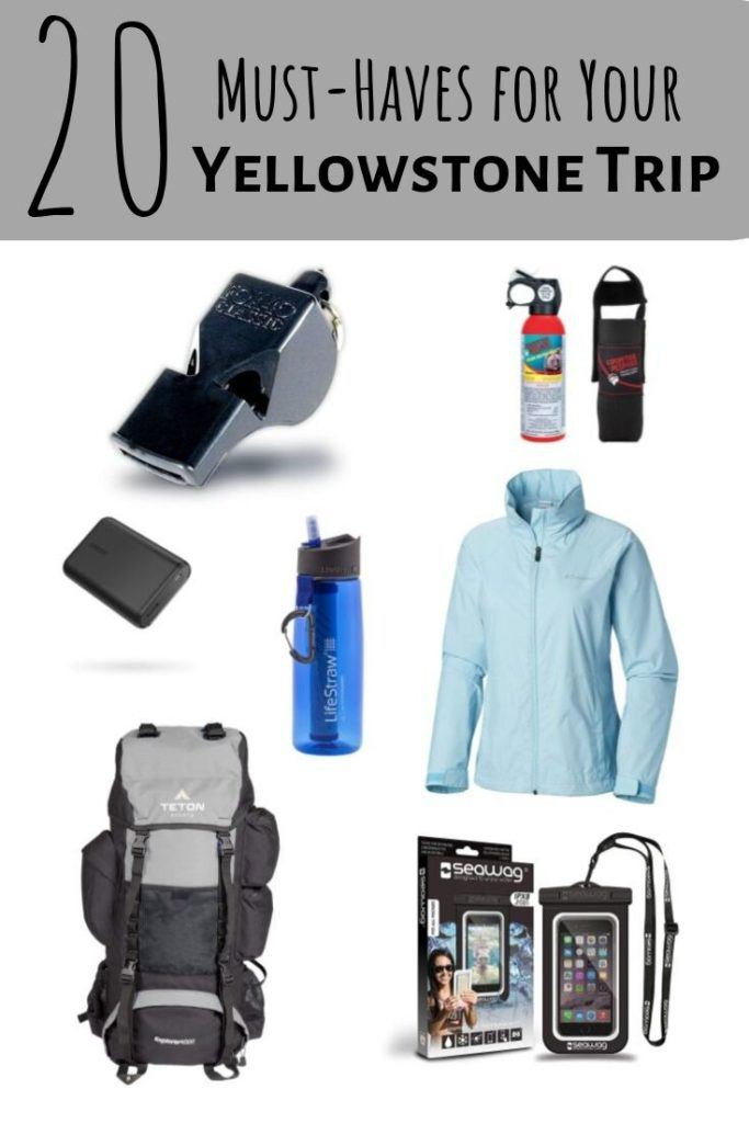 things to pack for a Yellowstone trip
