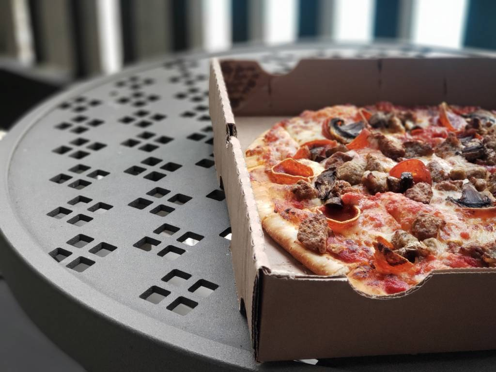 pizza in a pizza box