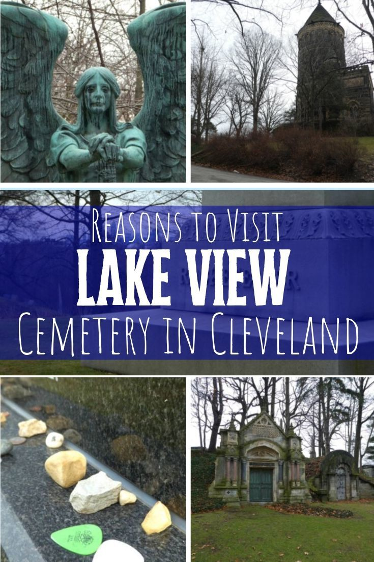 Lake View Cemetery in Cleveland Ohio has many interesting and unique features including the famous and creepy Haserot Angel, the James A. Garfield Memorial, and decorative mausoleums including one adorned with a Tiffany window.