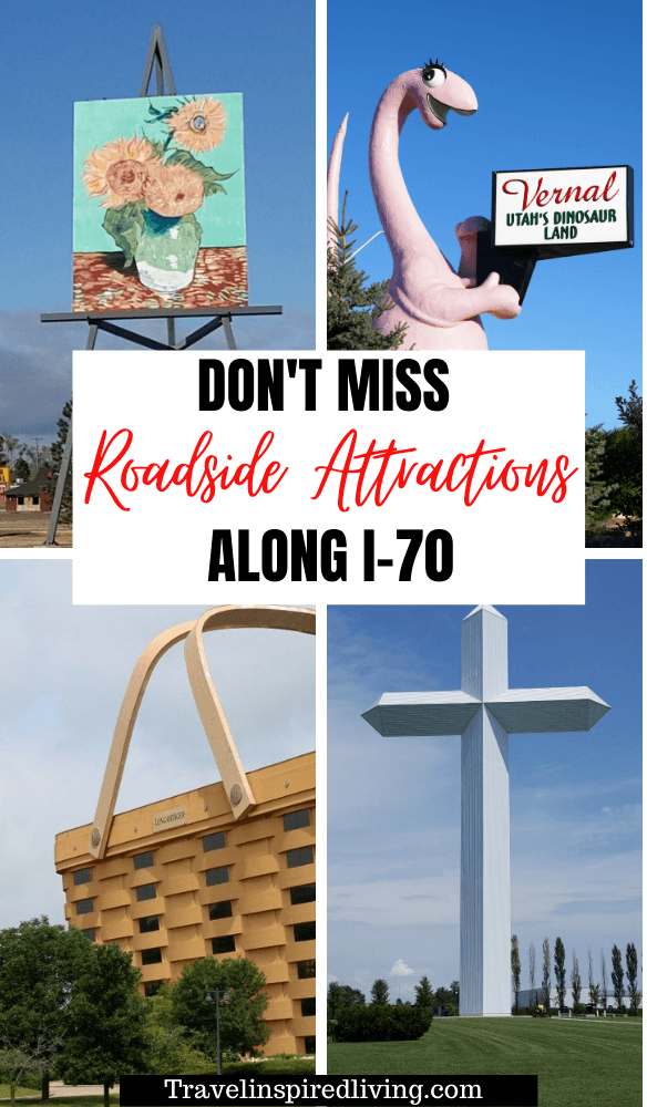 Roadside Attractions along I-70 in the United States that you won't want to miss on your next cross country road trip.