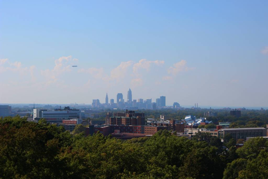 Visitors to Lake View Cemetery can take in the view from the top of the Garfield Monument which stretches for miles.