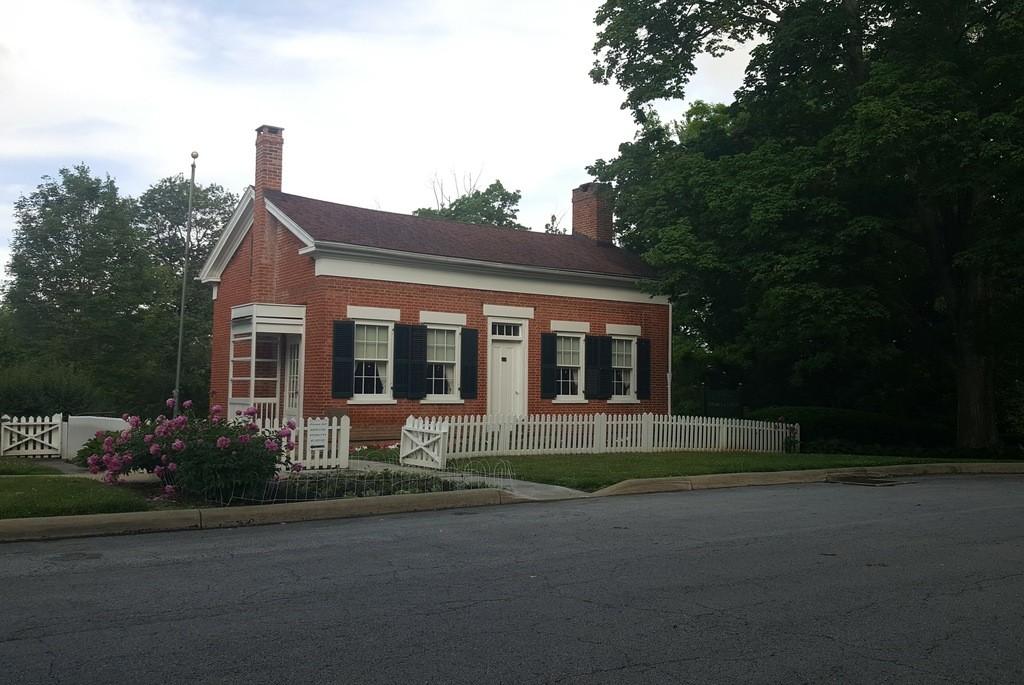 The small brick home where Thomas Edison was born.