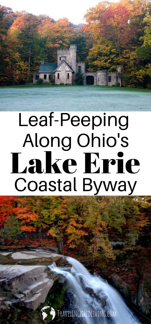 Beautiful views of the fall foliage along Ohio's Coastal Byway