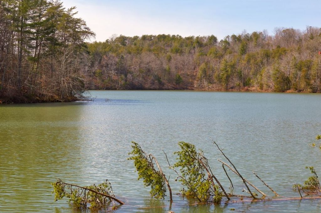 A view of Philpott Lake in Virginia.