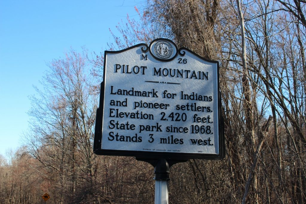 Historical Marker found at Pilot Mountain State Park.