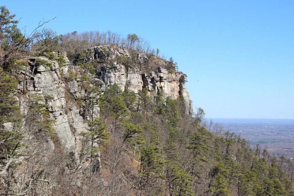 The formation that makes up Pilot Mountain State Park.