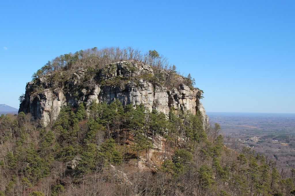 the Big Pinnacle at Pilot Mountain State Park