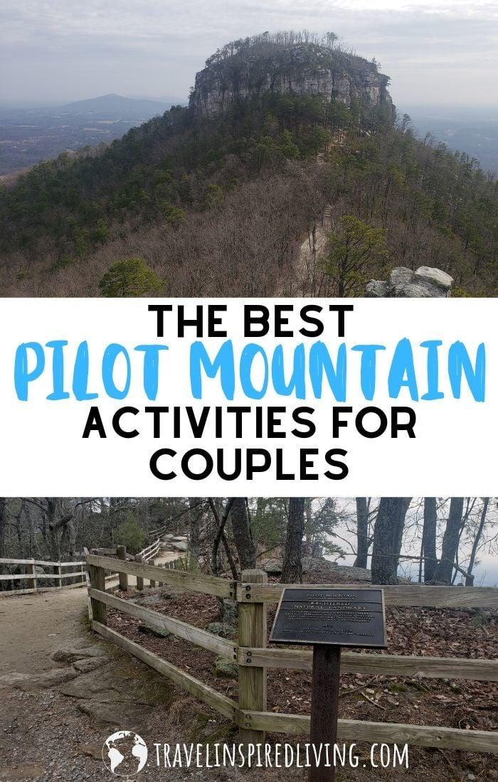 The famous Pilot Mountain icon in North Carolina.